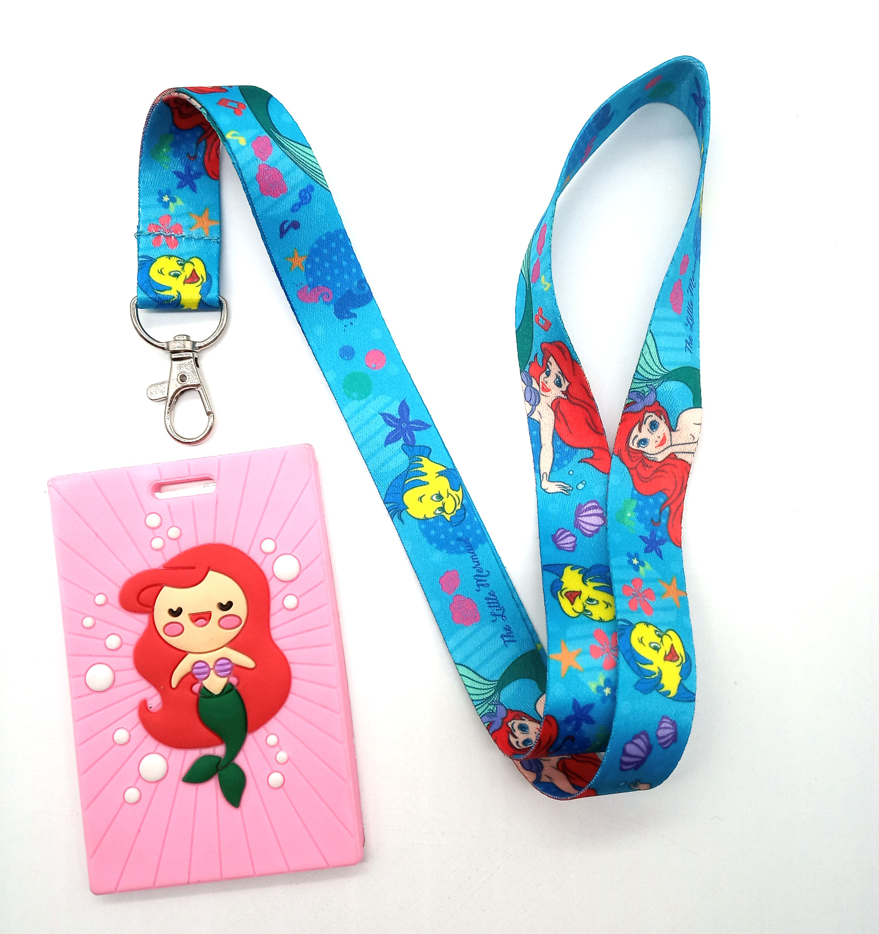 1 Pcs Cartoon Ariel Princess  Lanyard Key Lanyard Cosplay Badge ID Cards Holders Neck Straps Keyrchains K20