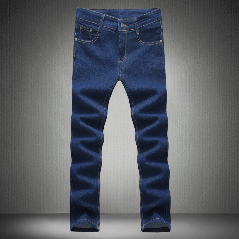 New Style Cool Casual Jeans Korean-style Men Fashion Slim Fit Versatile Trousers Hot Sales