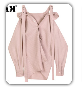 [EAM] 2020 New Spring Lapel Long Sleeve Solid Color Black Gray Split Joint Loose Big Size Jacket Women Fashion JC969 37