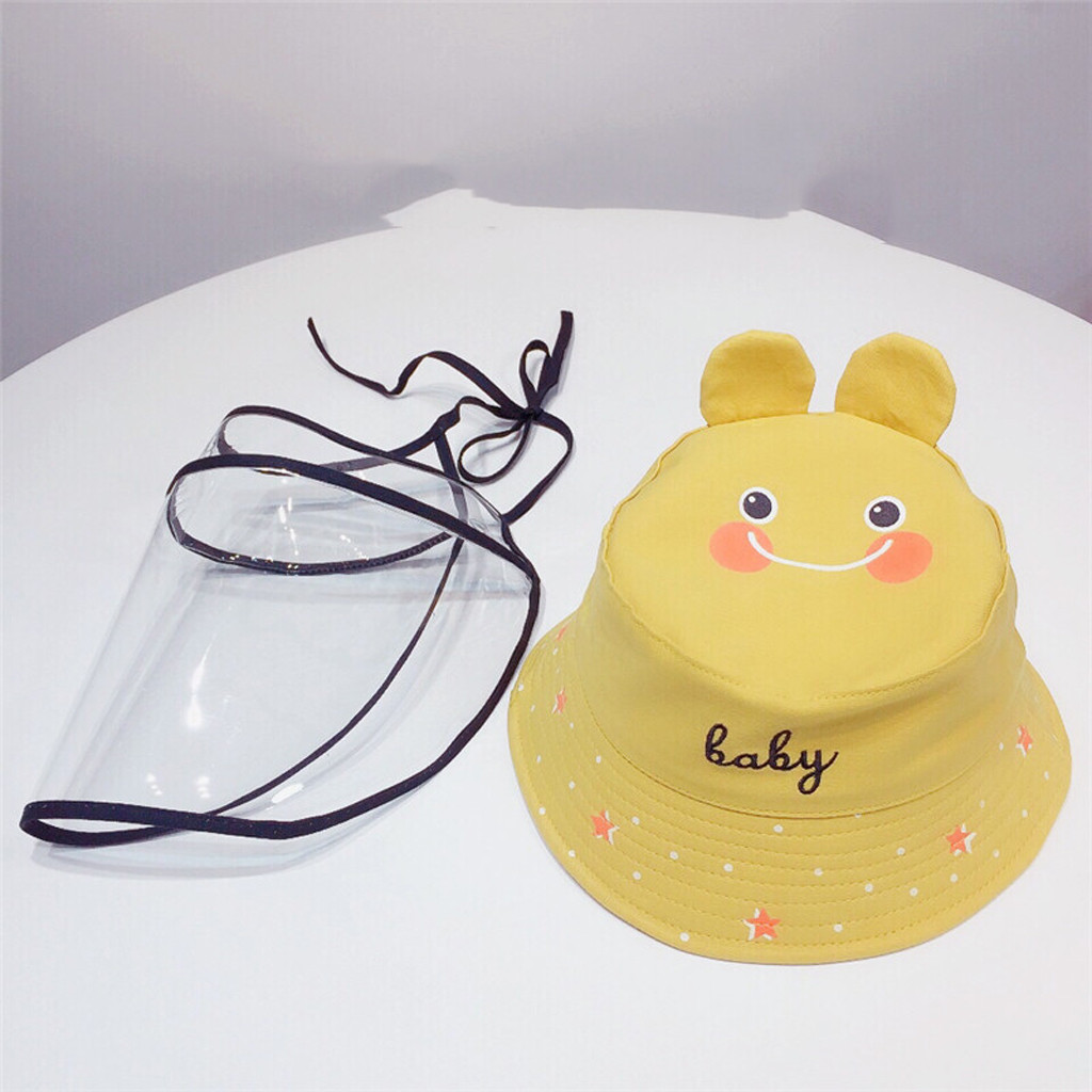 Baby Multi-function Protective Cap Anti-Saliva Protective Hat Eye Protection Windproof Hat Anti-saliva Children's Face Cover Cap 3