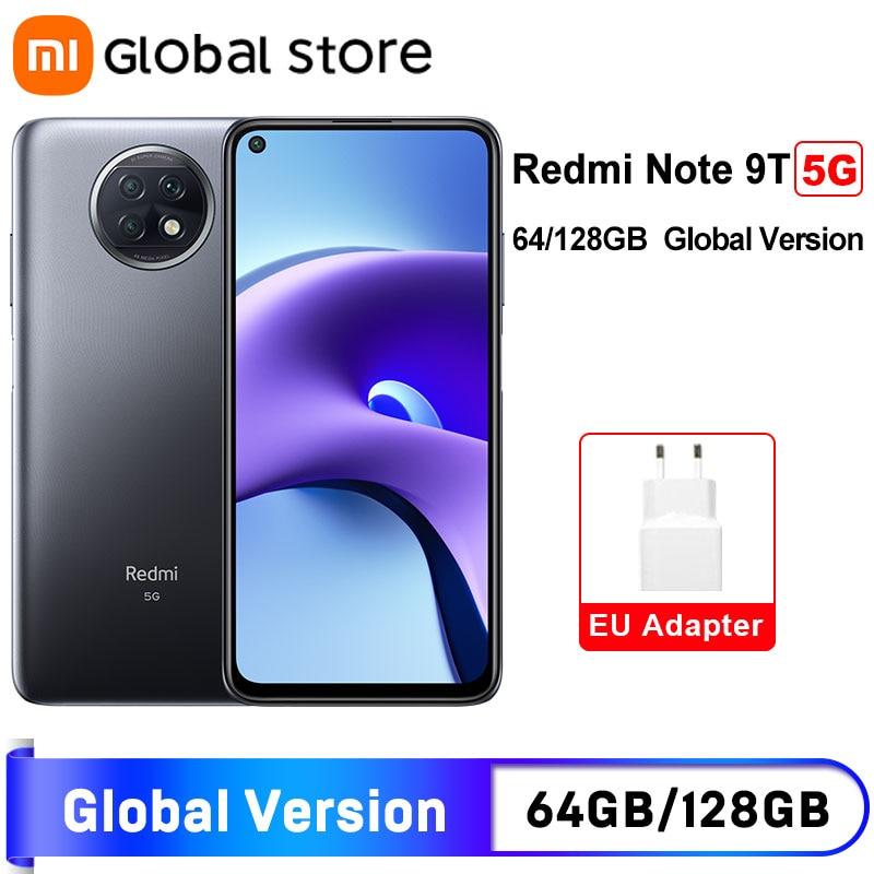 Глобальная версия смартфона Xiaomi Redmi Note 9 T 9 T 5G 4 Гб 64 Гб/128 ГБ MTK Dimensity 800U 48MP дисплей с тройной камерой 5000 мАч NFC