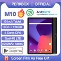 Планшет Perkbox, глобальная версия, восемь ядер, экран 10 дюймов, Android 10,0, 6 ГБ ОЗУ 128 Гб ПЗУ, 1280x800 HD IPS 4G LTE сеть WiFi GPS Youtube Pad