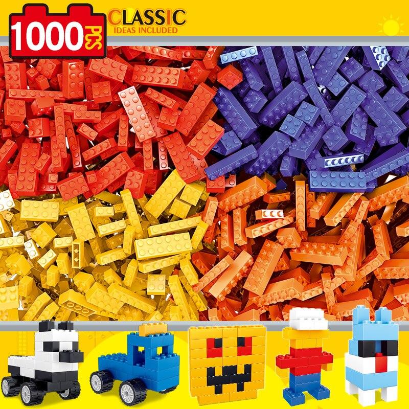 1000 Pieces DIY Building Blocks Compatible LegoINGly City Creative Bricks Bulk Model Figures Educational Kids Toys For Children