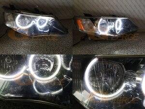 Image 5 - 超高輝度デュアルカラースイッチバックled天使の目drlターンシグナル三菱アウトランダーii 2006 2007 2008 2009