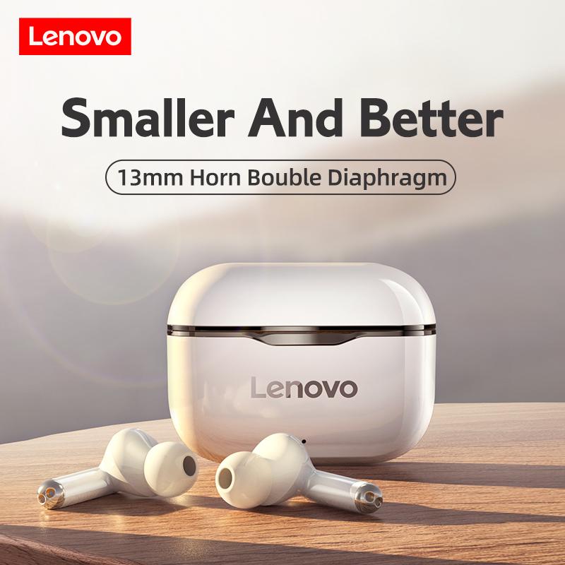 Lenovo LP1 Wireless Headphones Sport Waterproof Bluetooth Headphones 300mAh Charging Box HIFI Stereo Sound Earphones with Mic