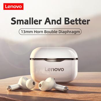 Słuchawki bezprzewodowe Lenovo LP1 Sport wodoodporne słuchawki Bluetooth 300mAh pudełko do ładowania słuchawki Stereo HIFI z mikrofonem tanie i dobre opinie Dynamiczny CN (pochodzenie) Prawdziwie bezprzewodowe 120dB Do kafejki internetowej Do gier wideo Zwykłe słuchawki do telefonu komórkowego