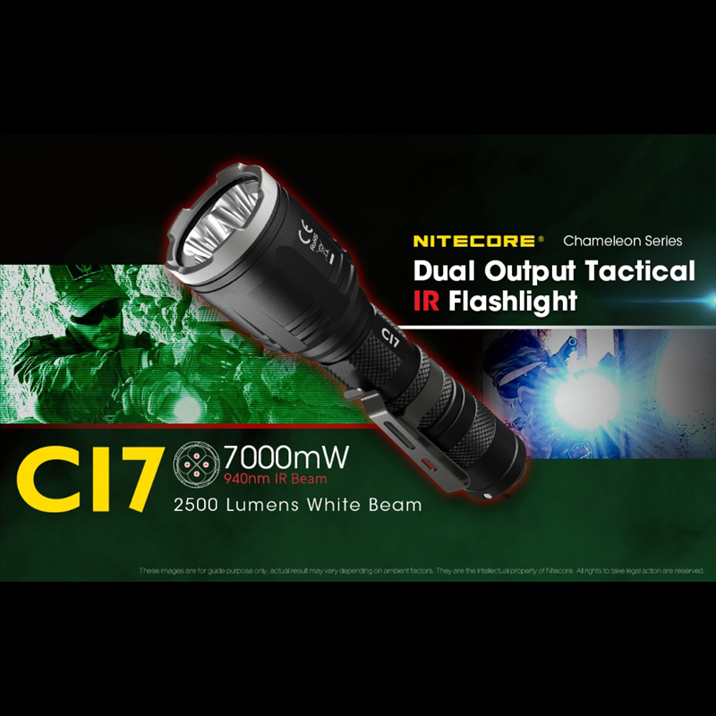 nitecore ci7 lanterna tatica dupla saida 2500lumens 01