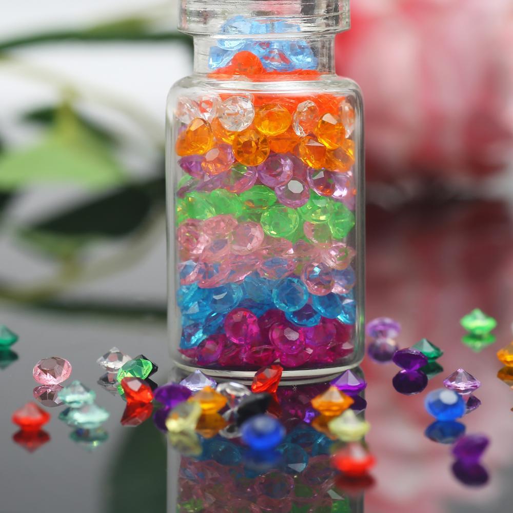 1000/2000 Uds. De Diamantes acrílicos para decoración de uñas, diamantes de imitación, confeti transparente de varios colores para decoración para fiesta de boda, manualidades de 3mm