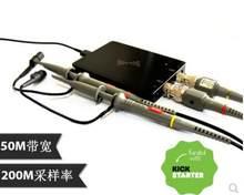 Dscope c20p 200 mhz usb osciloscópio digital 2 canais de largura de banda 50 mhz taxa de amostragem 200msa/s