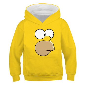 Children Pullover Simpson Homer Sweatshirts Boys Girl Kids Hoodies Tops 2021  1