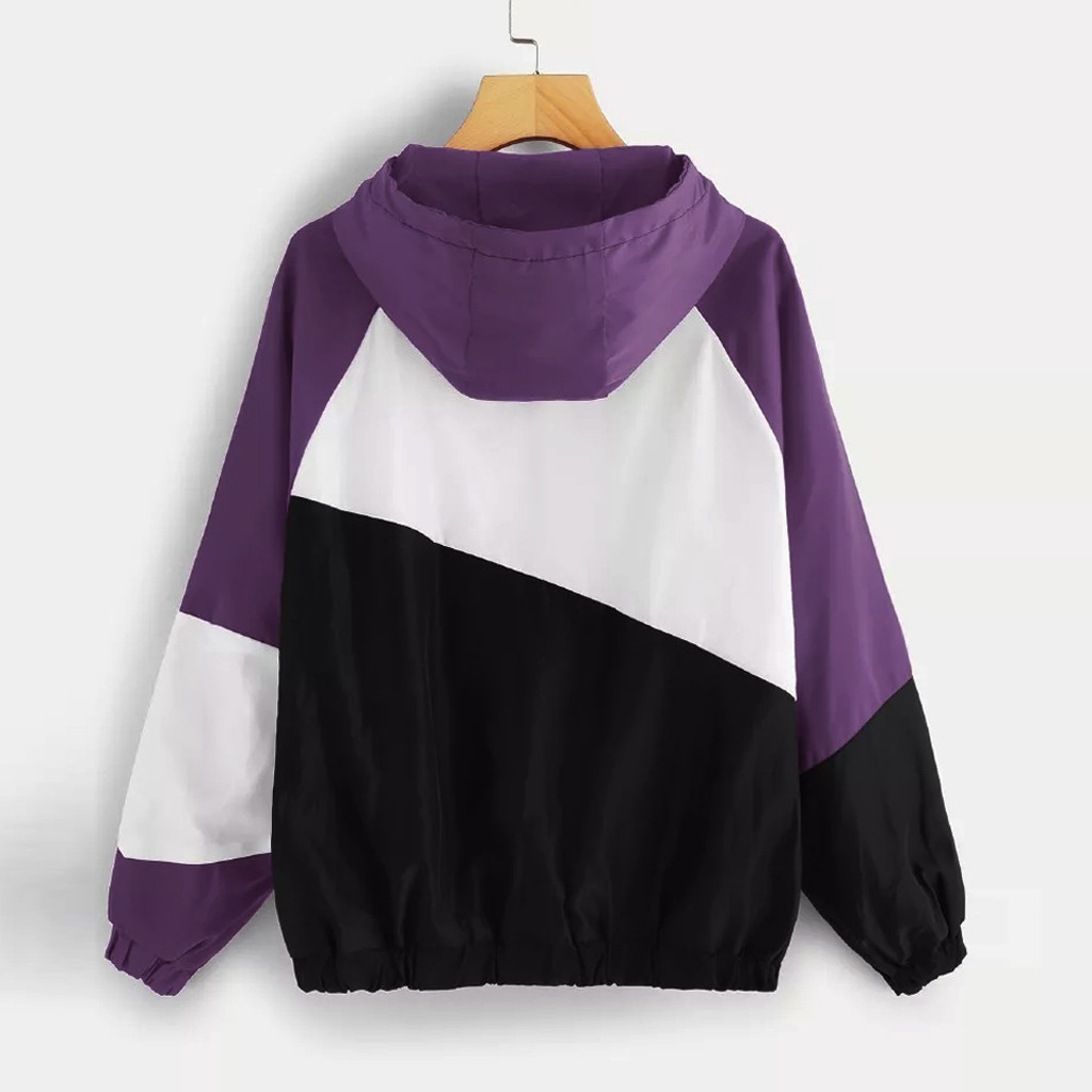 Hfbe07ec73be645bca887205dea96018cN JAYCOSIN Jacket Women 2019 Long Sleeve Patchwork Thin Skinsuits Windbreaker Hooded Women's Jackets Coats chaquetas mujer 19JUL23