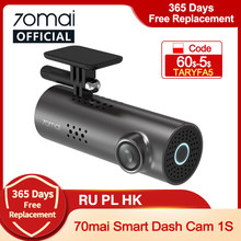 DISC5 Carro DVR 1 70mai S APP & Inglês 70mai 1S 1080P HD de Visão Noturna Controle de Voz 70mai 1S Traço Camera Recorder WiFi 70mai Traço Cam