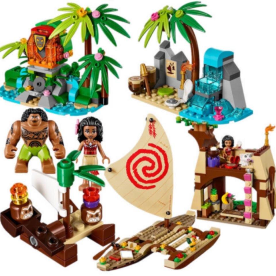 515Pcs Vaiana Moanas Ocean Voyage Restore The Heart Of Te Fiti Set Building Blocks Maui Toys Compatible Legoinglys Friends