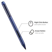 Zindov Surface Stylus z gumką i prawym przyciskiem myszy dla Microsoft Surface Pro 7 Pen dla Surface Pro 3 4 5 6 7 X tanie tanio CN (pochodzenie) Ekran pojemnościowy inne marki TABLETY LAPTOPY Rohs 144cm Metal Silver Black Blue Right Click and Eraser