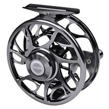 Fly Fishing Reel Aluminum 9/10 WT 3+1BB Fishing Fly Wheel  CNC Machine Reel Left-Right Handle Casting Full-Metal Fly Reels maxway cnc aluminium fly fishing reel size 5 6 wheel fishing reels right left hand changeable 2 1bb for fly fishing
