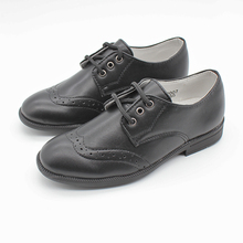Boys Kids Smart Evening Formal Dress Oxford Brogue Shoe Faux