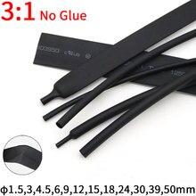 1 м, диаметр 1,5 ~ 50 мм, термоусадочная трубка без клея, соотношение 3:1, водонепроницаемая пленка для проводов, Изолированная клейкая подкладка,...