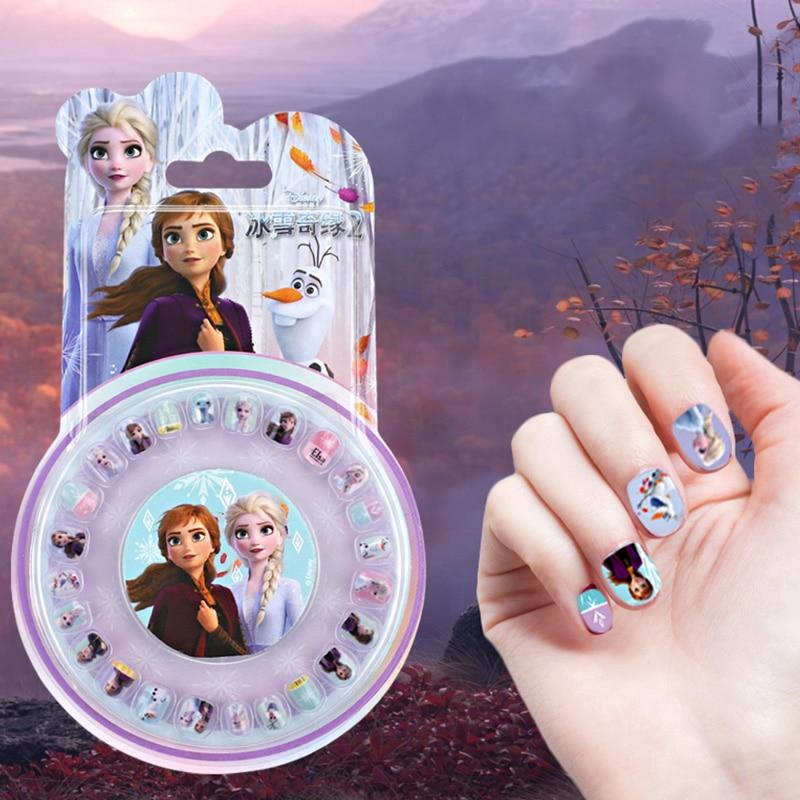 Disney frozen 2 elsa anna meninas prego adesivos conjunto de maquiagem fingir jogar brinquedos crianças presente decoração do prego suprimentos
