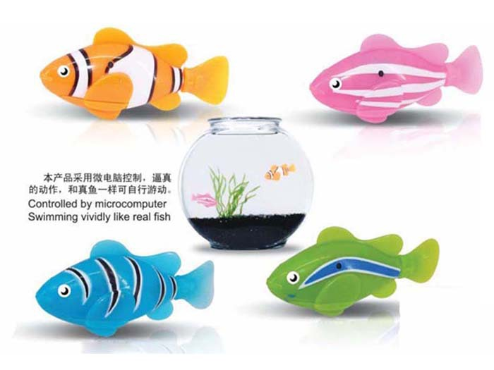 Robo Fish Model Magical Electric Swimming Sensing Electronic Clownfish Infants Children Bath Water Toys