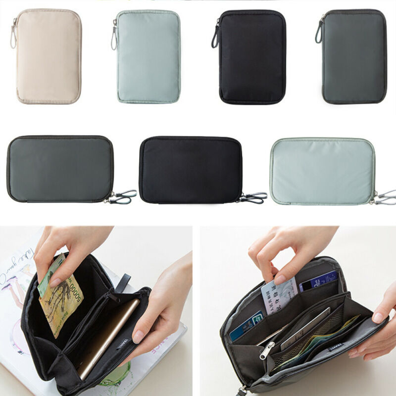 Portable Travel Wallet Wallet File Bag Storage Bag Passport Document Bag Passport Wallet