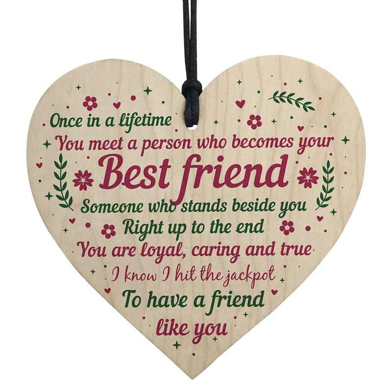 Best Friend Christmas Chip Hanging Gift
