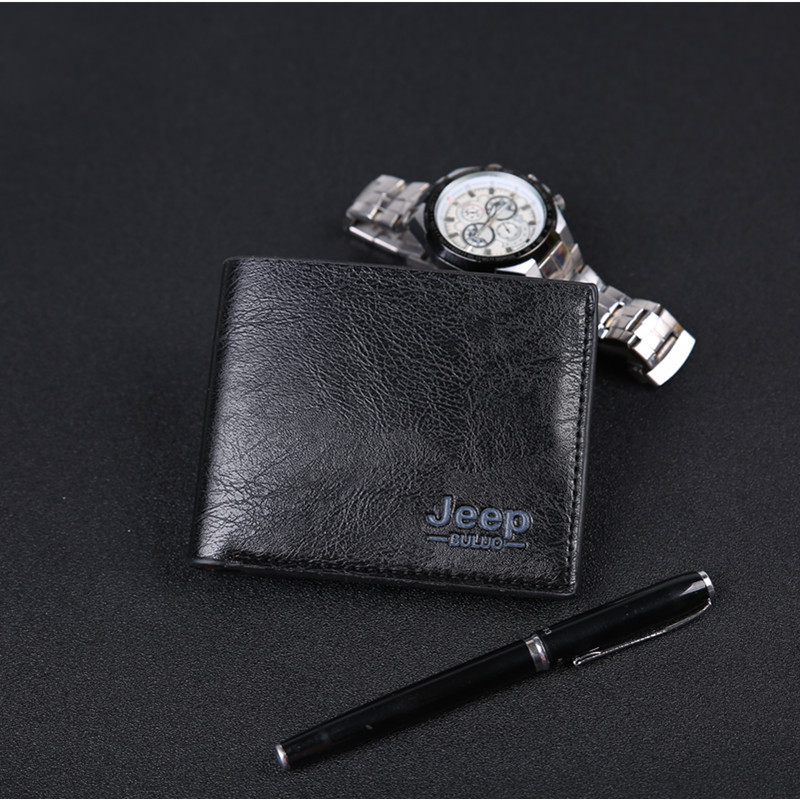 Luxury Mens Wallets Leather PU Bifold Short Wallet Men Hasp Vintage Male Purse Coin Pouch Multi-functional Cards Wallets