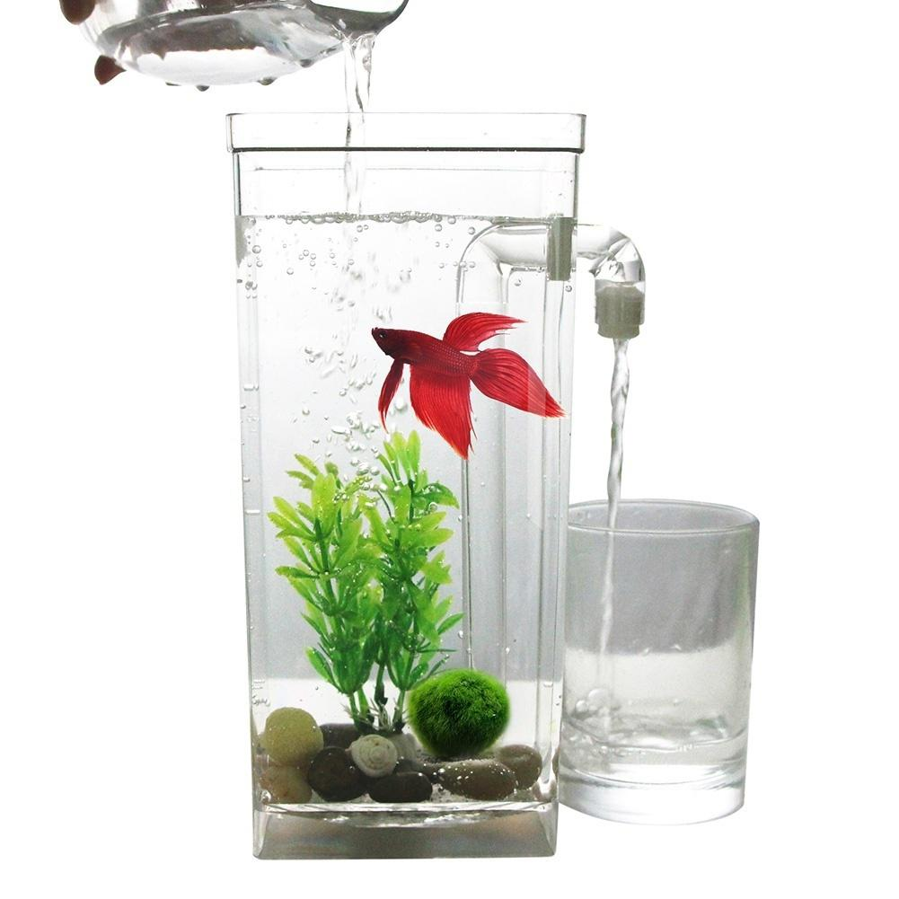 Led Mini Fish Tank Aquarium Self Cleaning Fish Tank Bowl Convenient Desk Aquarium For Office Home Decoration Pet Accessories Best Sale Ac71 Cicig