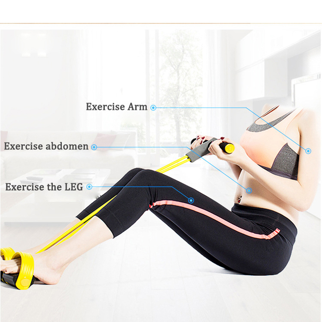 4 Resistanc Elastic Pull Ropes Exerciser Rower Belly Resistance Band Home Gym Sport Training Elastic Bands