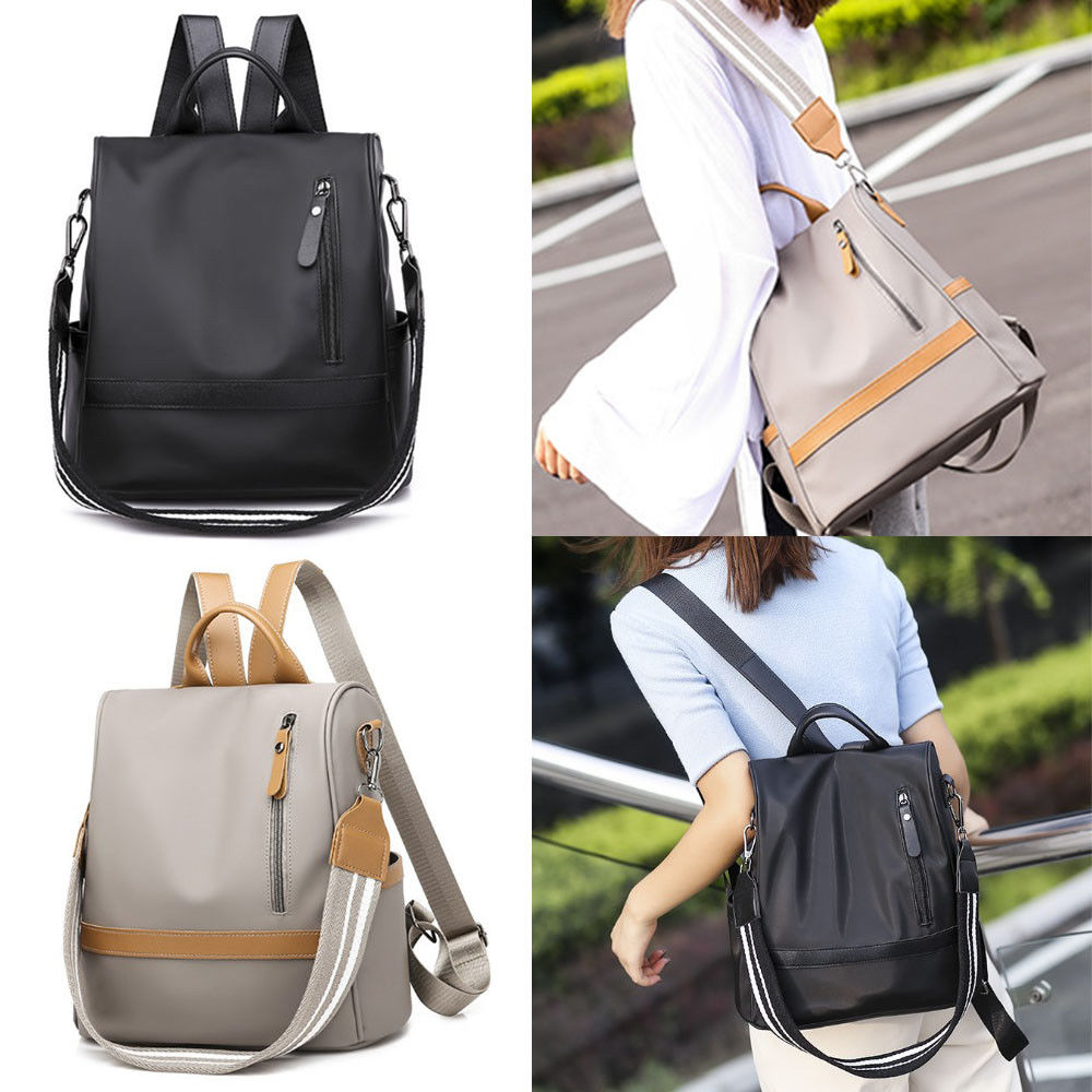Hfbe18668e30442a2a7d811de4ad8cba4p - Fashion Women Waterproof Travel Backpack Anti-theft Oxford Backpack Female School Bags Bagpack For Girls Shoulder Bag