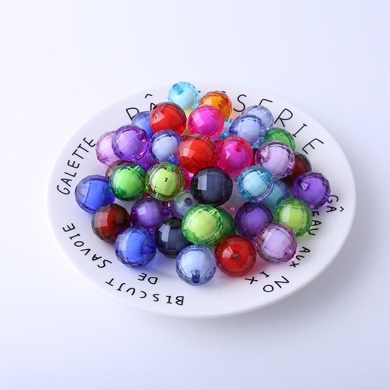 Les perles de 5 pièces 20mm les plus vendues, adaptées à la fabrication de bijoux faits à la main exquis bricolage artisanat multicolore acrylique matériau perle
