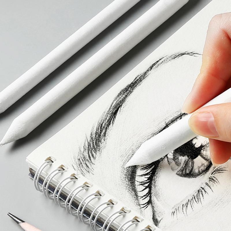 3/6/8/12 Pcs/set Double Head Durable Art Drawing Tool Pastel Blending Smudge Tortillon Material Escolar Sketching Paper Pencil