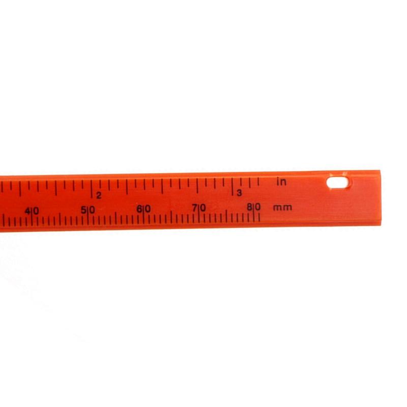 0-80mm Double Rule Scale Plastic Vernier Caliper Measuring Student Mini Tool Ruler