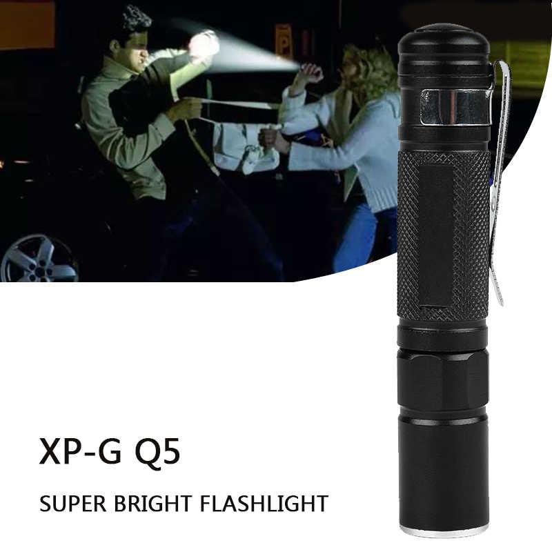 Litwod z90 صغير Penlight مصباح جيب مصباح ليد جيب الشعلة XP-G Q5 2000LM فانوس مقاوم للماء AAA بطارية Led للتخييم التنزه