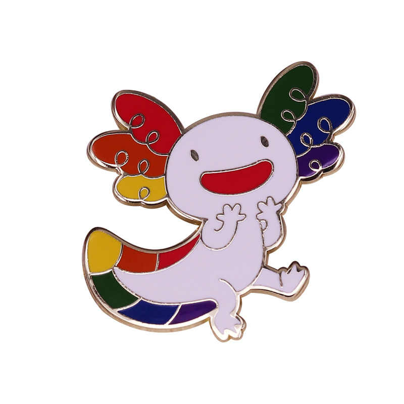 Colorato axolotl pin perfetto per chi ama il più cool di mare animale