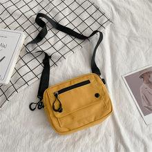 Sac à bandoulière en toile pour femmes, Simple, solide, loisirs, Mini voyage, sauvage, #35
