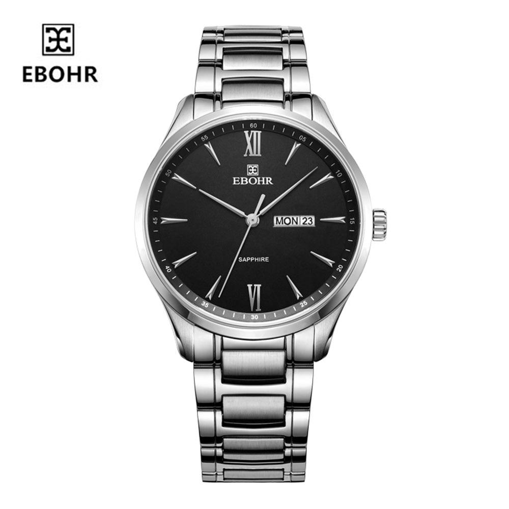 EBOHR Quartz Watch Trend Fashion Simple Couple Table Calendar Men's Watch 50440115
