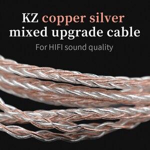 Image 5 - Наушники KZ 8 ядерный Медный Серебряный смешанный обновленный кабель 3,5 мм 2Pin MMCX разъем 0,78 0,75 для KZ CCA TFZ EDX Z1 S2 SA08 ASF ASX