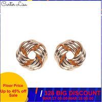 CARTER LISA 2019 nouveau Sumer mode creux boucles d'oreilles en métal pour les femmes or argent couleur Simple gothique boucles d'oreilles SEEA-004