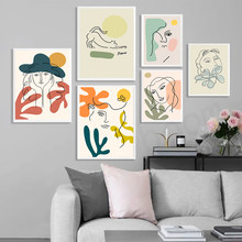 Classic Picasso Matisse Posters and Prints Abstract Cat Girl Flower Canvas Painting Wall Art Pictures For Living Room Home Decor