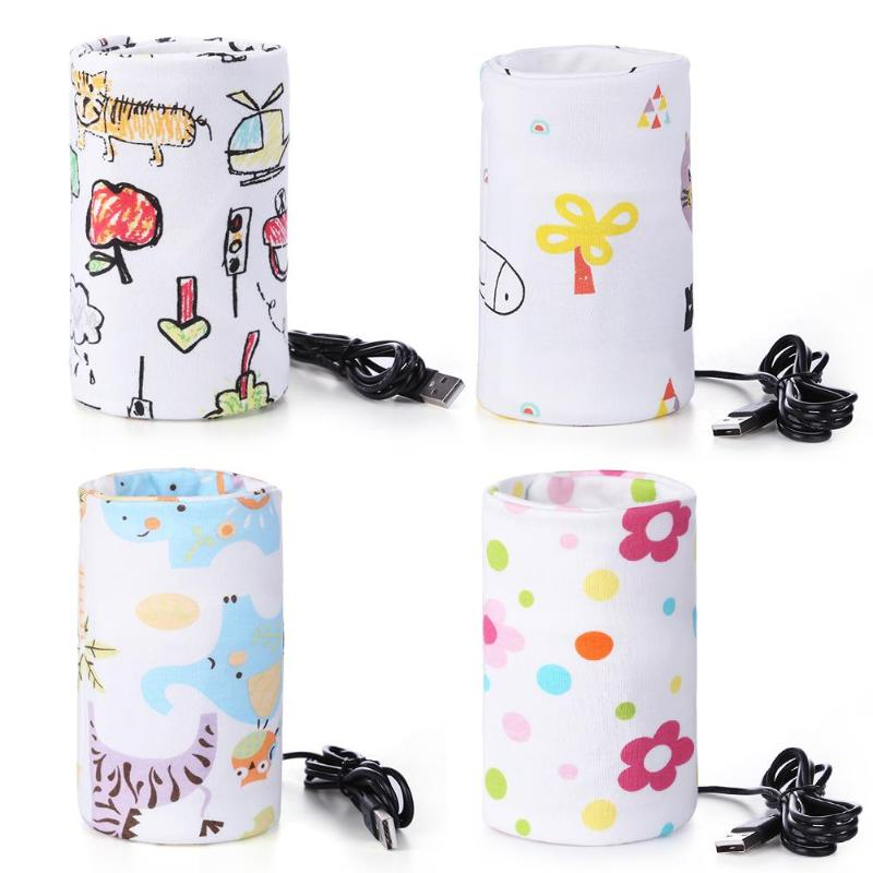 USB Milk Warmer Insulated Bag Portable Travel Cup Warmer Baby Nursing Bottle Cover Warmer Heater Bag Infant Feeding Bottle Bags