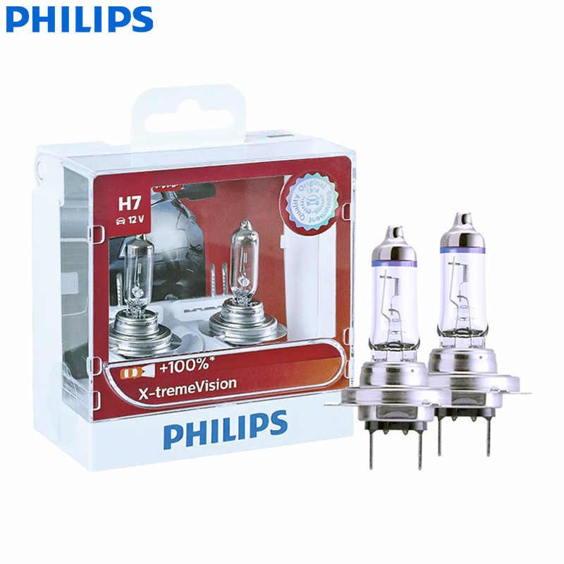 フィリップス x-treme ビジョン H7 12 v 55 ワット PX26d 12972XVS2 + 100% よりビジョンライト車オリジナルハロゲンヘッドライト自動電球 (ツインパック)