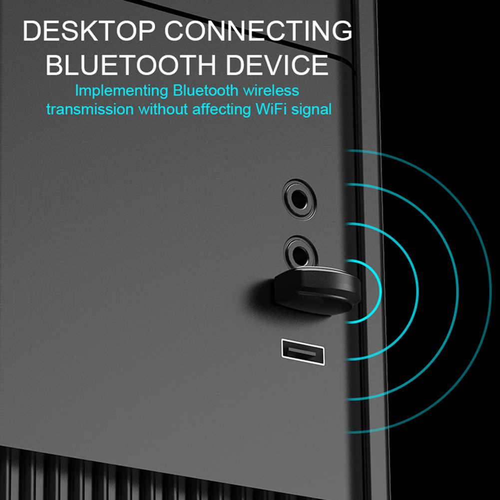 Bluetooth Adaptor untuk PC Bluetooth 5.0 Nirkabel Penerima Dukungan untuk Windows 7/XP8/8.1/10 untuk Keyboard mouse Printer Headset