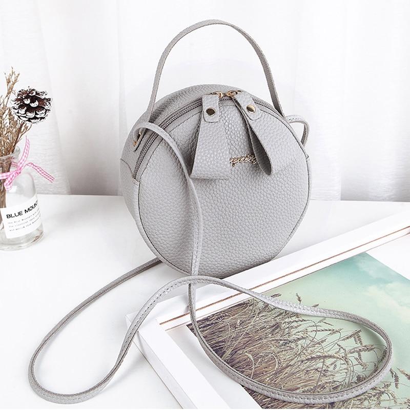 Round Design Shoulder Bags For Women 2019 Luxury PU Leather Handbags Small Crossbody Messenger Bags Ladies Purses Bolsa Feminina 11
