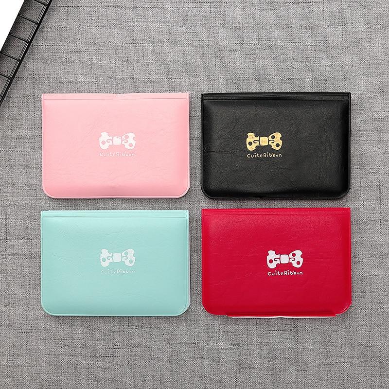 Women Girls Student Card Holder Business Wallet Bank ID Name Credit Card Note Holder Cover Case Pocket Bag Purse 12 Card Slots