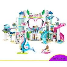01068 Legoinglys Friends Heartlake City 41347 Топ отель Строительные блоки Набор для детей Веселые игрушки набор для девочек Рождество