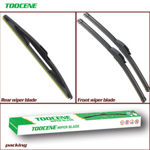 Front And Rear Wiper Blades For Citroen C3 2002- 2009 Rubber Windscreen Windshield Wipers Car Accessories 24+18+14 cheap toocene natural rubber 2005 2006 2007 2008 2003 2004 2017Year 0 3kg clean the windshield TC212 Ningbo China