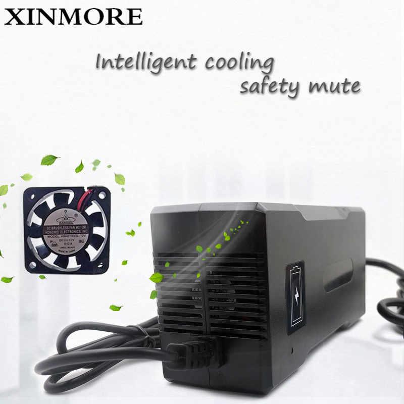 XINMORE 42V 5A 4A شاحن بطارية ل 36V 5A ليثيوم البطارية الكهربائية دراجة السلطة أداة كهربائية شاحن برقية