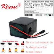 Kluosi 12v bateria 12v 32ah 3s10p 450watt 12.6v bateria de lítio com 50a bms para a luz solar do carro da criança do carro da excursão do inversor