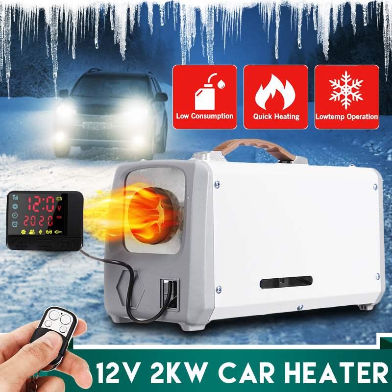 Chauffage de voiture 12V 2000W outil Diesel réchauffeur d'air unique trou LCD moniteur Parking plus chaud pour voiture camion Bus bateau RV