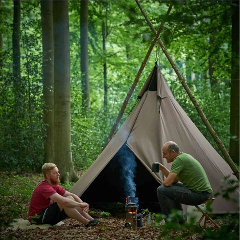 Pyramid Tent With A Chimney Hole/A6 S Size Tower Smoke Window Tent Park Survival Single Layer Indian Tent Field Survival Tent
